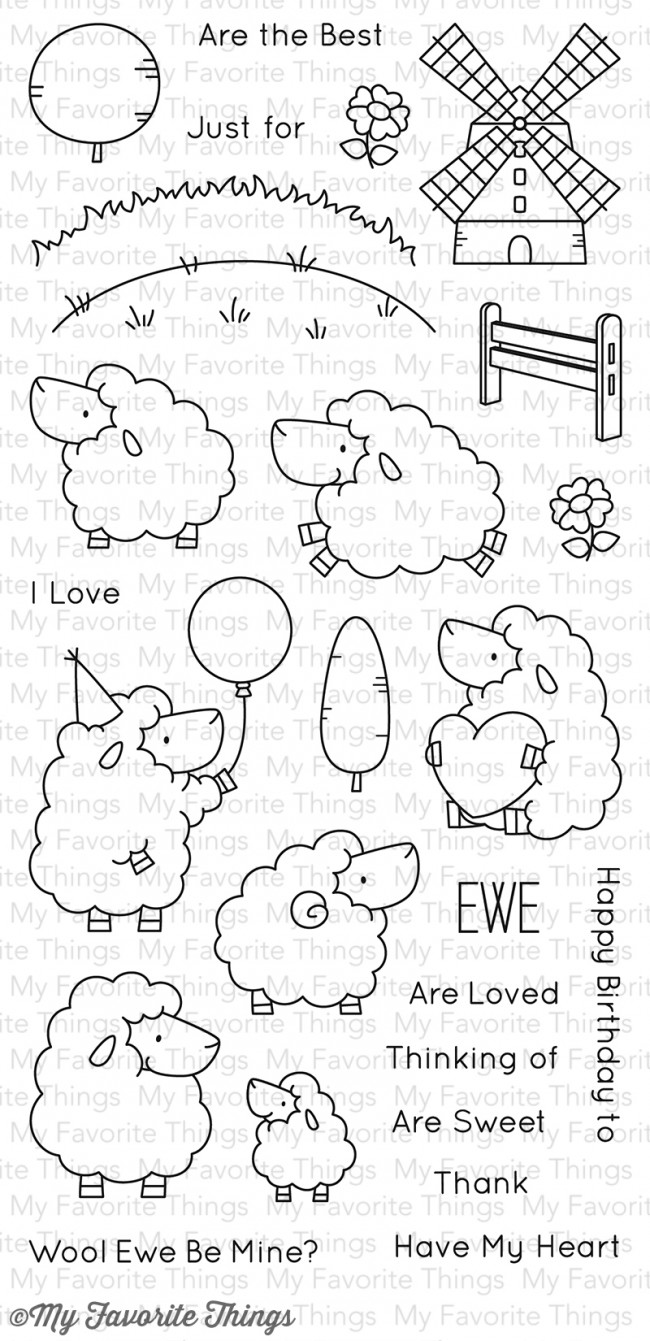 My Favorite Things - Ewe Are the Best Stamp Set