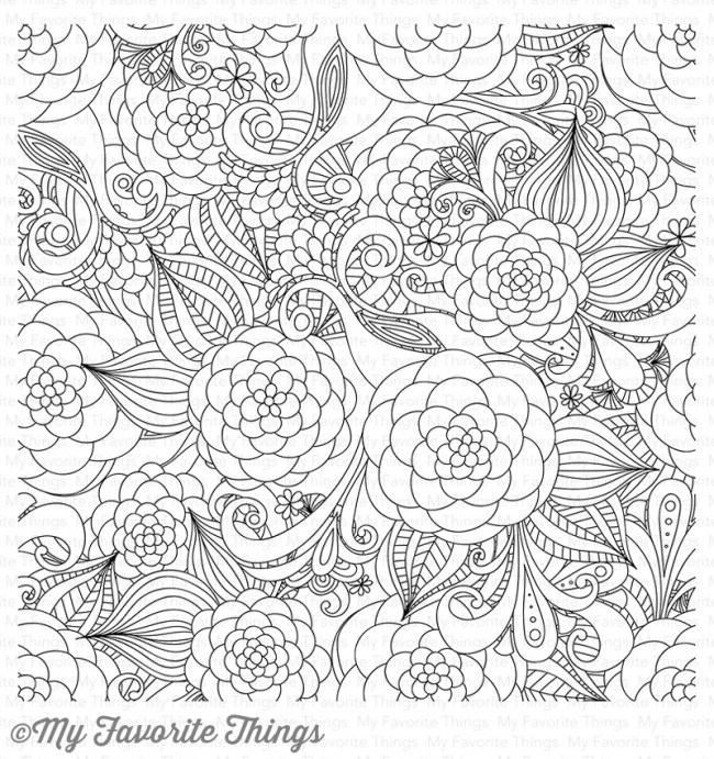 My Favorite Things - Floral Fantasy Background Stamp