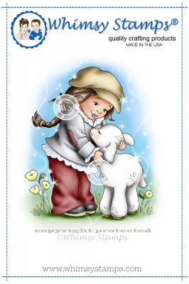 Whimsy Stamps - Lamb Hugs - Crissy Armstrong Collection