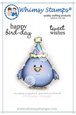 Whimsy Stamps - Happy Bird-Day - Crissy Armstrong Collection
