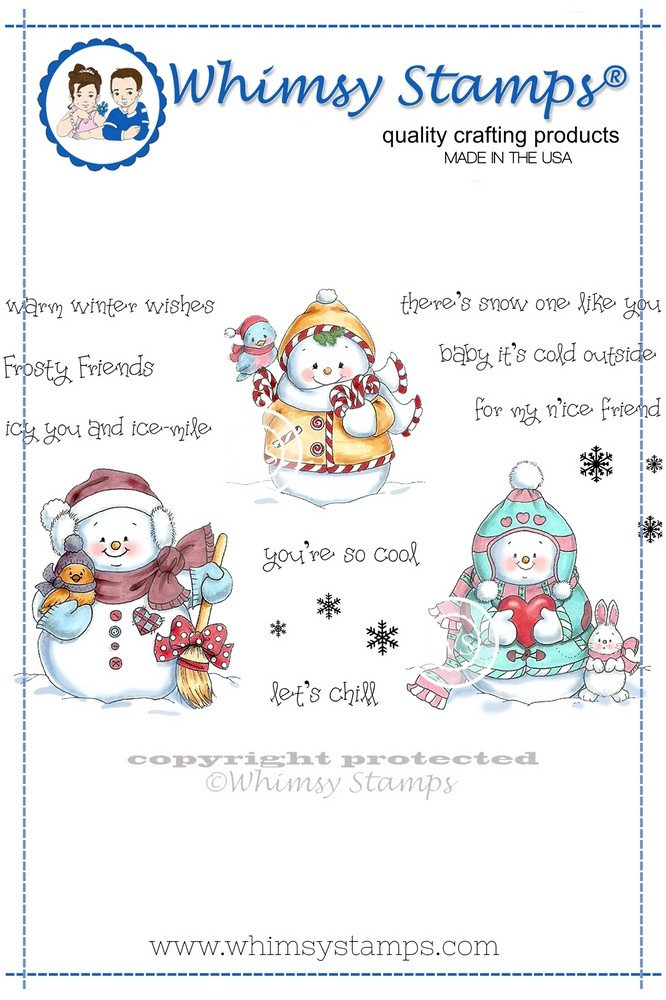 * XMAS* Whimsy Stamps - Snowman and Friends - Crissy Armstrong Collection