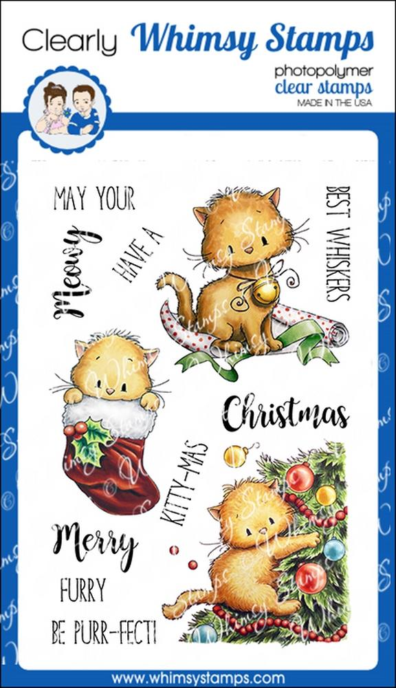*NEW* - Whimsy Stamps - Meowy Kitty-mas
