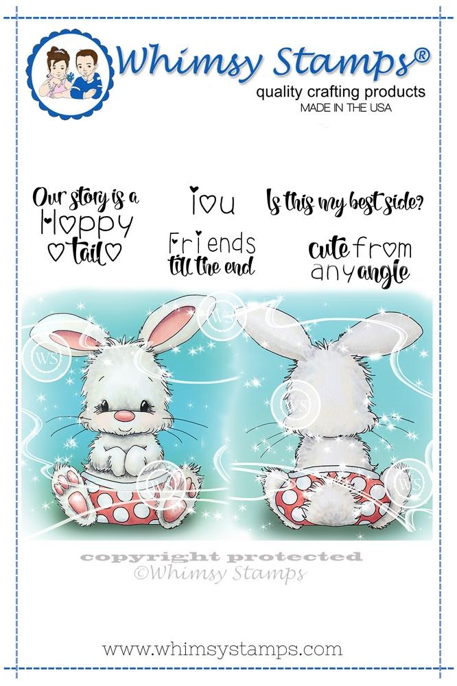 ###Whimsy Stamps - Cute From Any Angle Rubber Cling Stamp
