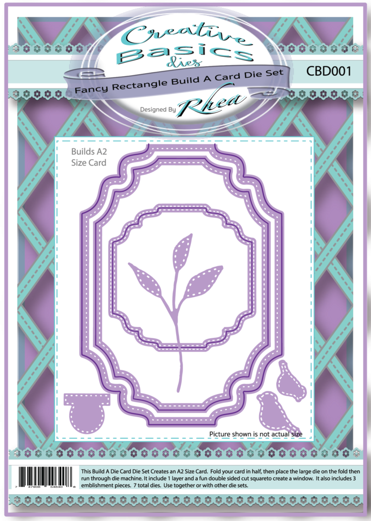 *NEW* - CC Designs - Creative Basics Fancy Rectangle Build A Card Die Set