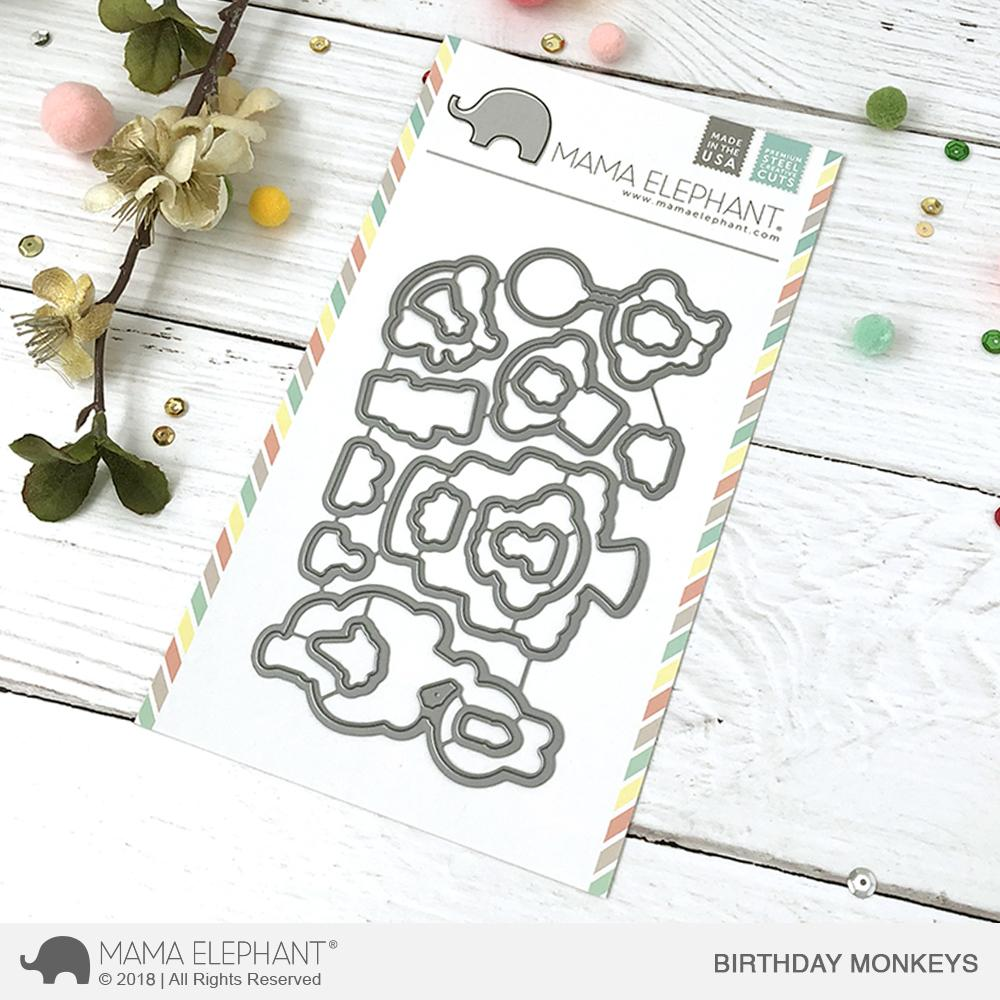 Mama Elephant - Birthday Monkeys - Creative Cuts