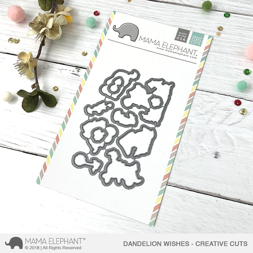 *NEW* - Mama Elephant - Dandelion Wishes - Creative Cuts