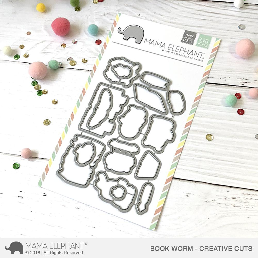 *NEW* - Mama Elephant - Book Worm - Creative Cuts