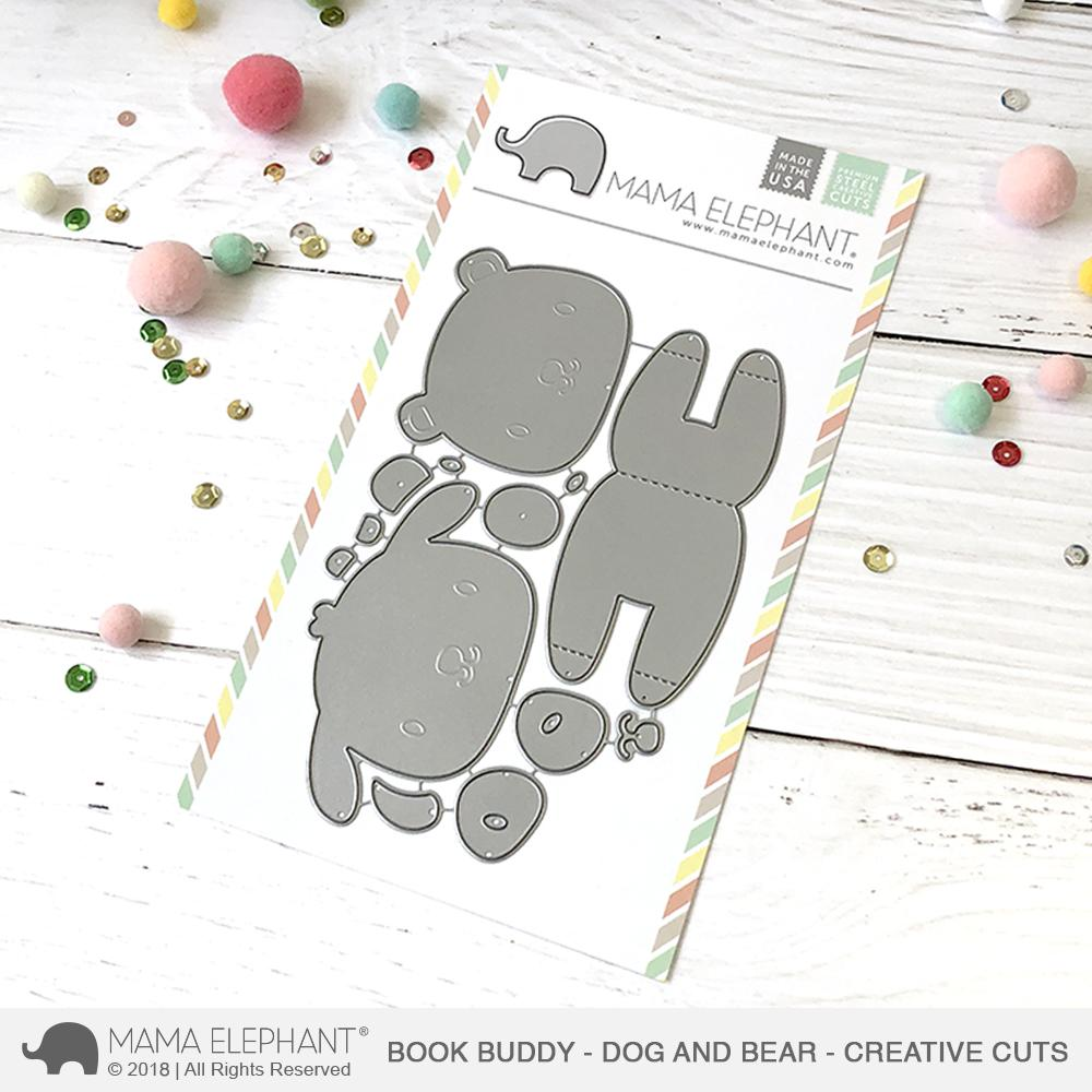 *NEW* - Mama Elephant - Book Buddy - Bear and Dog - Creative Cuts