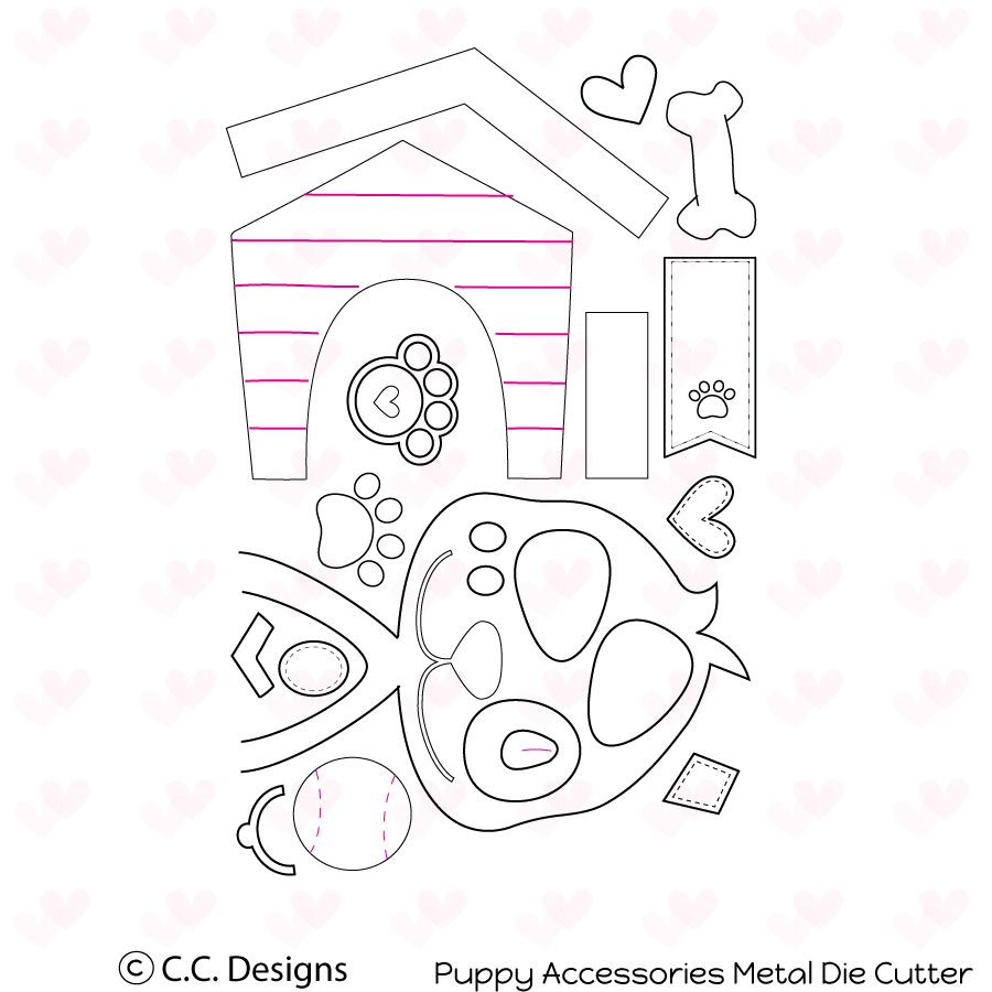 *PRE-ORDER* - CC Designs - Puppy Accessories Metal Die