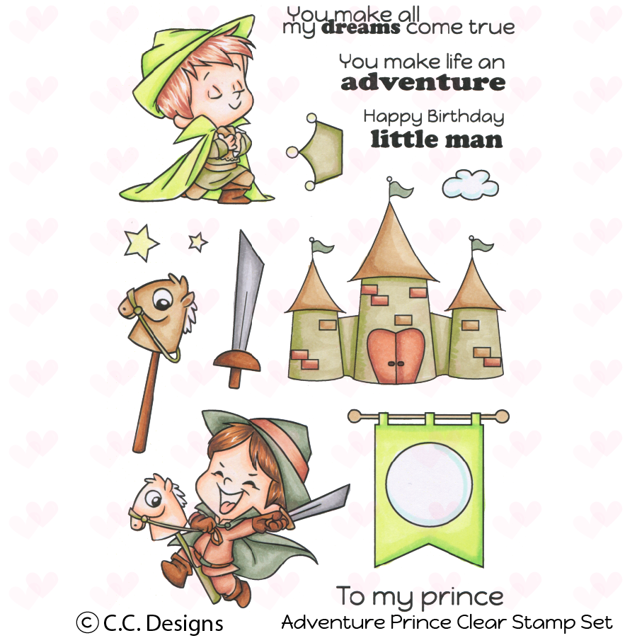 *NEW* - CC Designs - Adventure Prince Clear Stamp Set