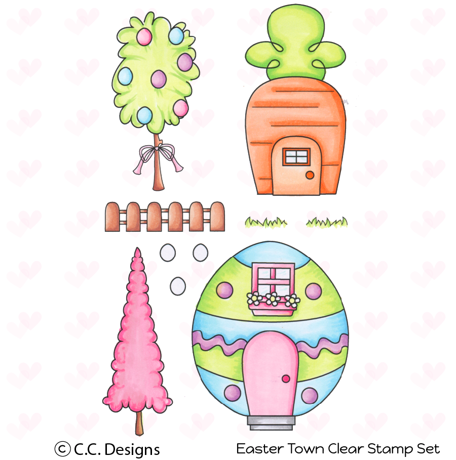 *NEW* - CC Designs - Easter Town Stamp Set