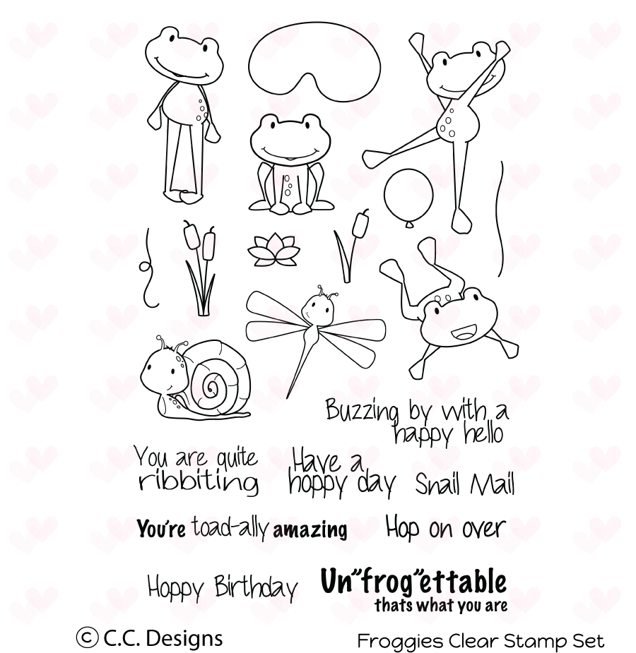 *NEW* - CC Designs - Froggies Clear Stamp Set