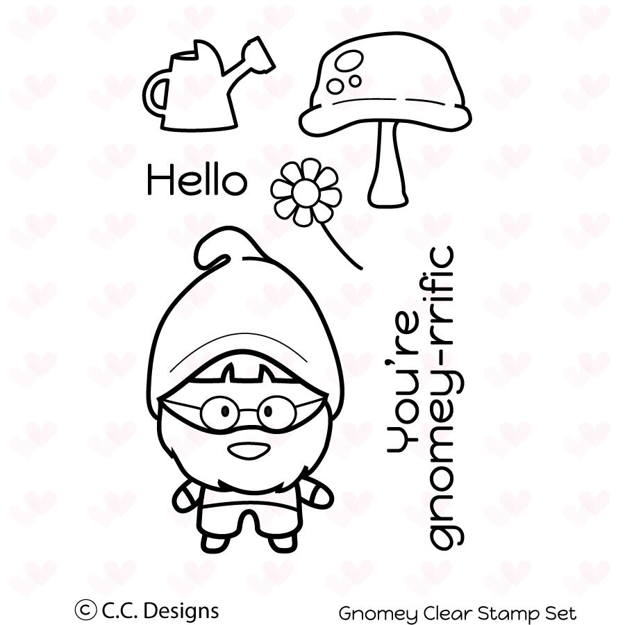 *NEW* - CC Designs - Gnomey Clear Stamp Set