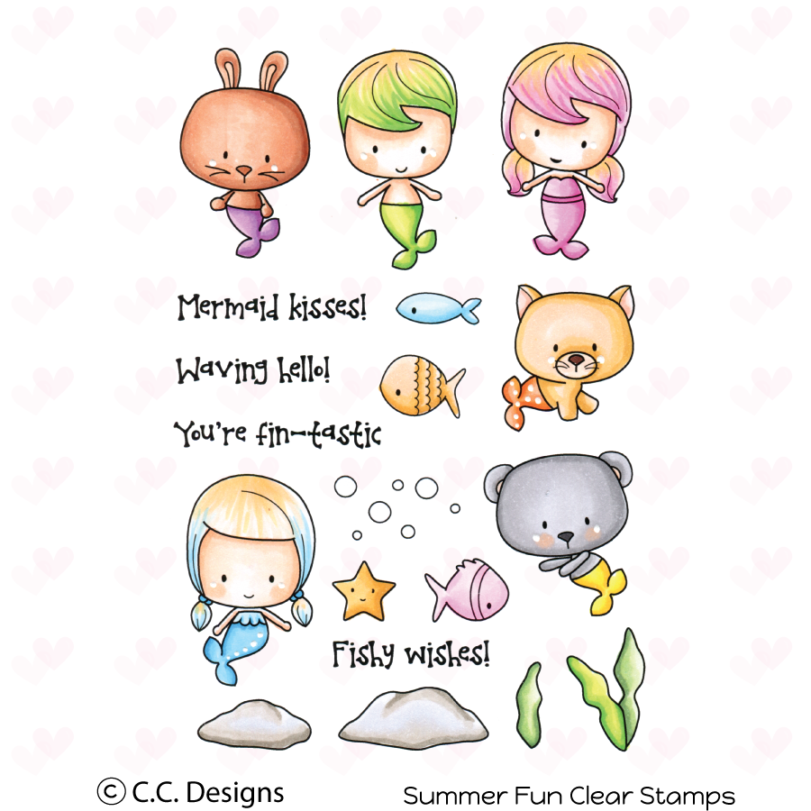 *NEW* - CC Designs - Summer Fun Clear Stamp Set