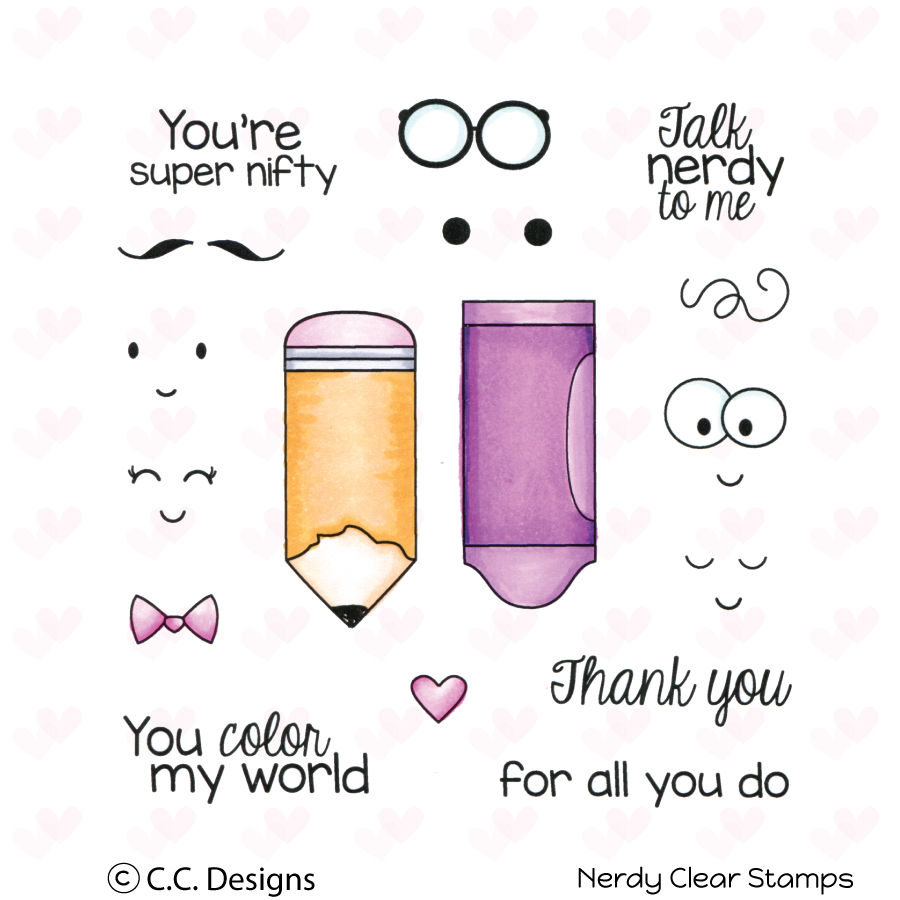 *NEW* - CC Designs - Nerdy Clear Stamp Set