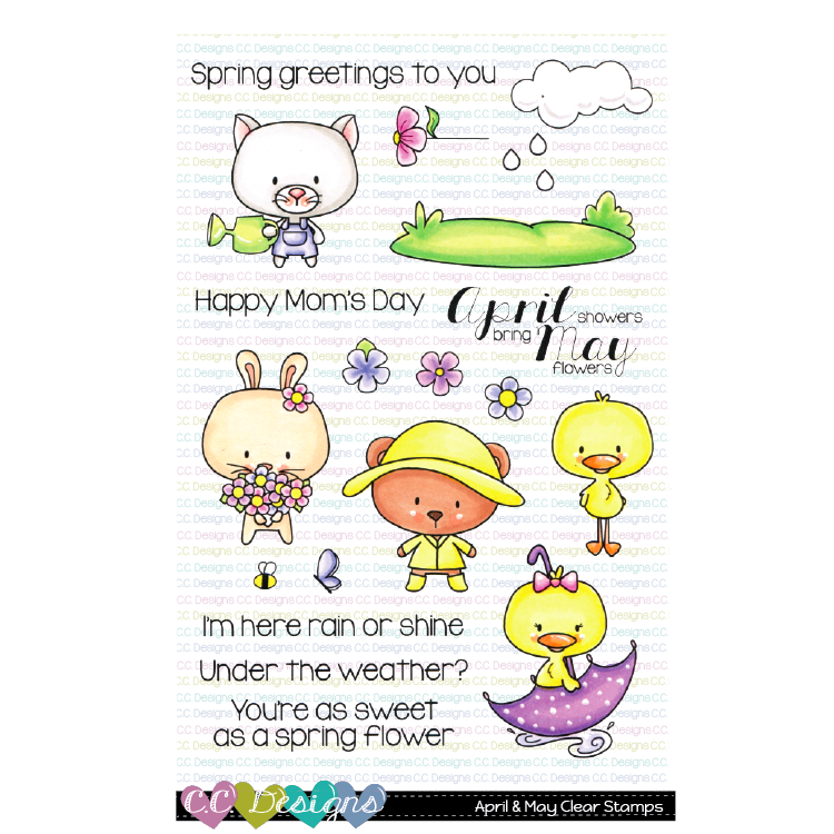 *NEW* - CC Designs - April & May Clear Stamps