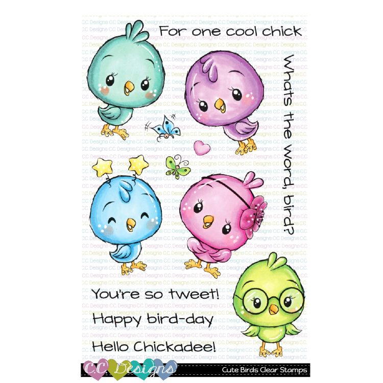 *SP* CC Designs - Cute Birds Clear Stamps