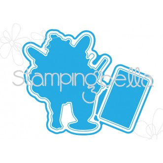 Stamping Bella - Edna loves icecream Cut it out die