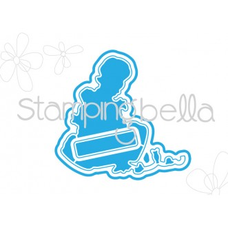 *SALE* Stamping Bella - The  bunny wobble and the peony Cut it out die