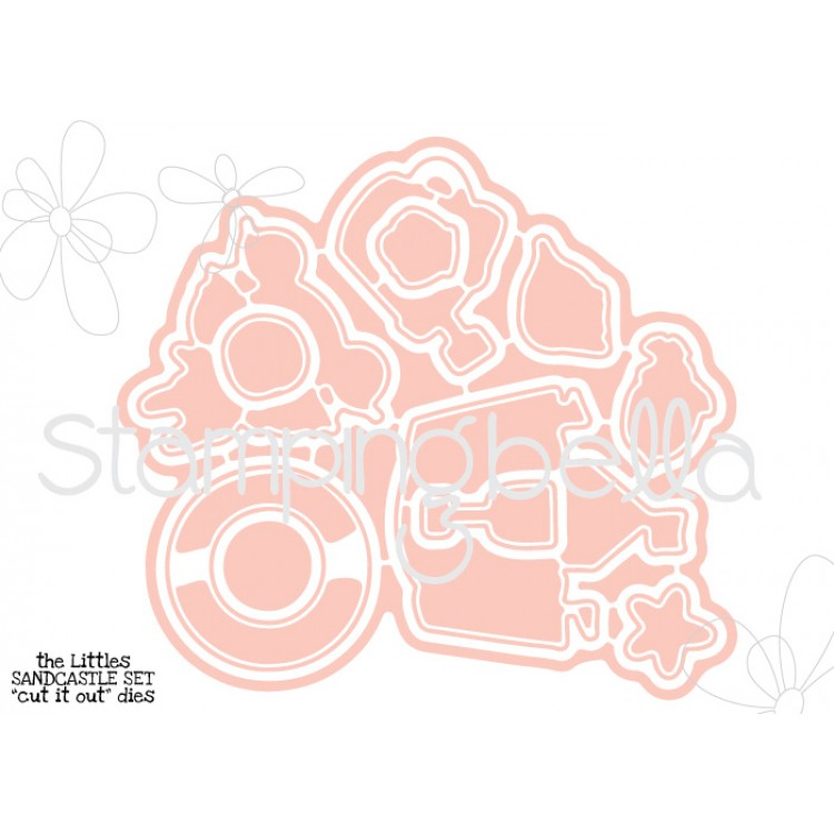 "*NEW* - Stamping Bella - The LittleS Sandcastle set ""CUT IT OUT"" DIES"