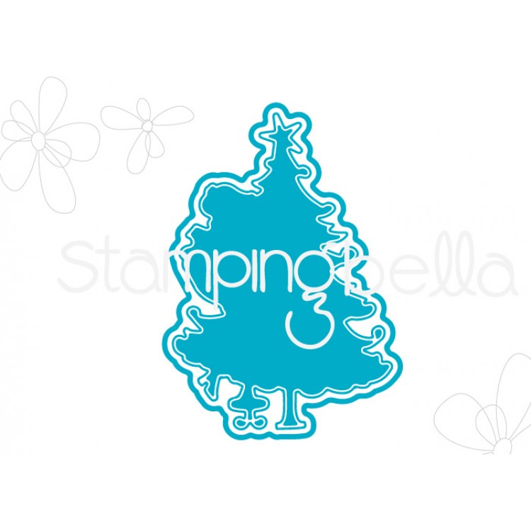 "*PRE-ORDER* - Stamping Bella - Uptown girl TINA TRIMS THE TREE ""CUT IT OUT"" DIE"