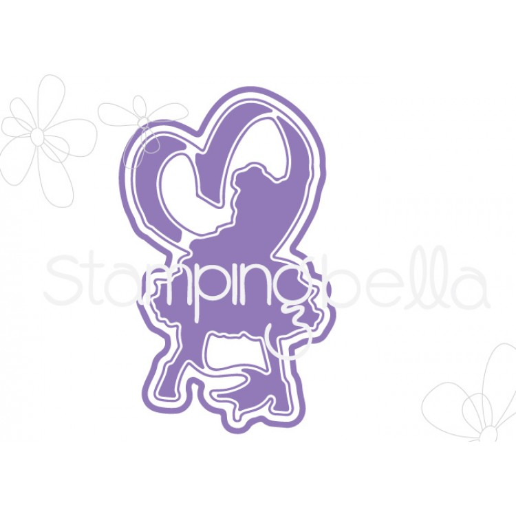 Stamping Bella - tiny townie raven loves ribbon CUT IT OUT DIE