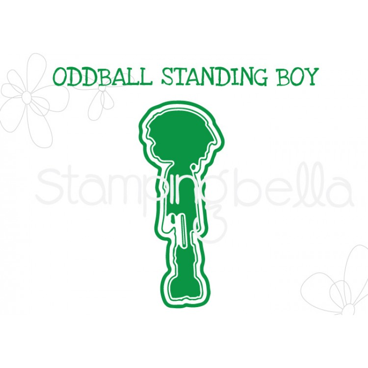 "*NEW* - Stamping Bella - Oddball Standing Boy ""CUT IT OUT"" DIE"