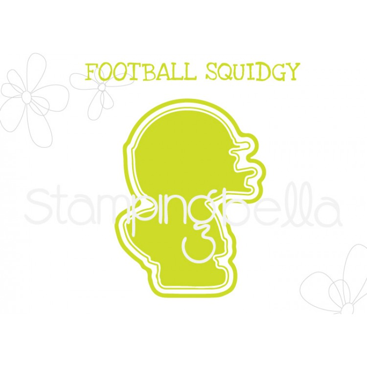 "*NEW* - Stamping Bella - Football Squidgy ""CUT IT OUT"" DIE"