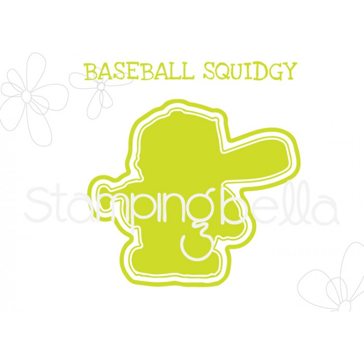 "**S** Stamping Bella - Baseball Squidgy ""CUT IT OUT"" DIE"