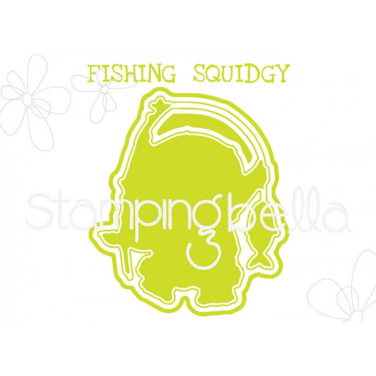 "**S** Stamping Bella - Fishing Squidgy ""CUT IT OUT"" DIE"