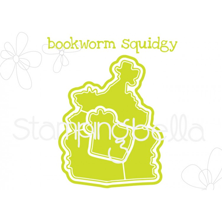 "**S** Stamping Bella - Bookworm Squidgy ""CUT IT OUT"" DIE"