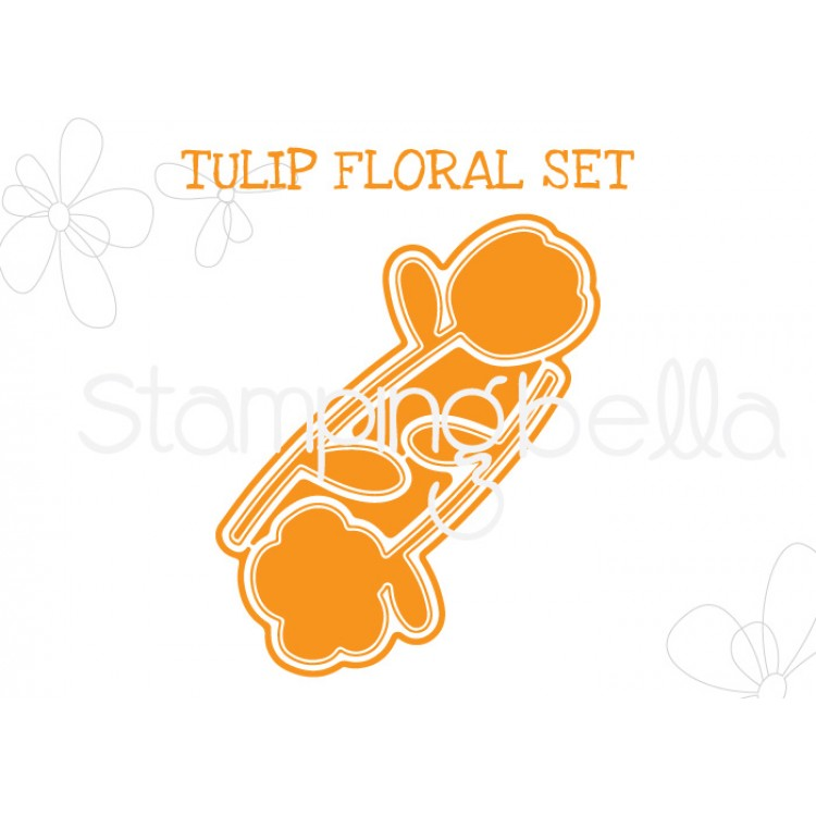"*NEW* - Stamping Bella - Tulip Floral set ""CUT IT OUT"" DIE"