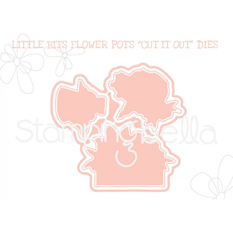 "*NEW* - Stamping Bella - Little Bits Flower pots ""CUT IT OUT"" DIE"