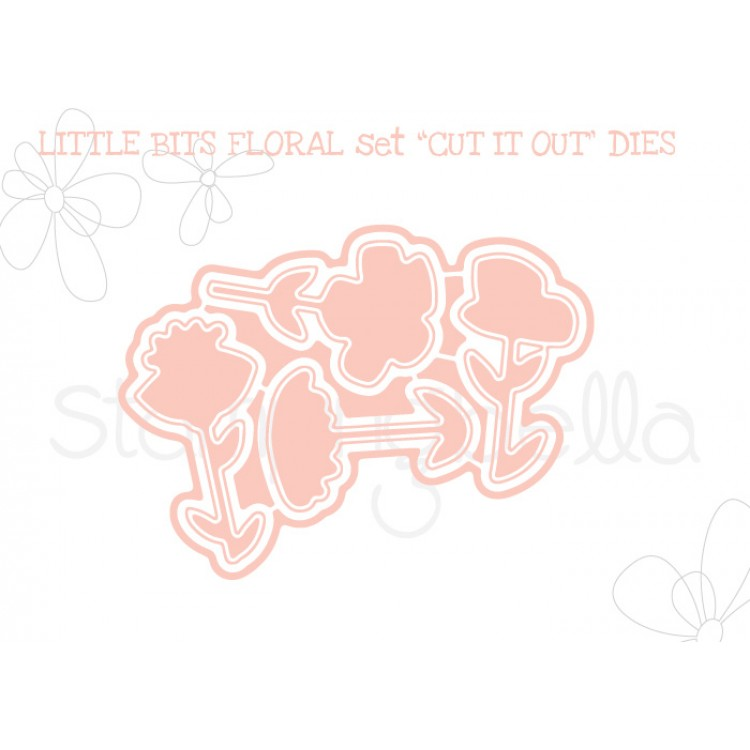 "*NEW* - Stamping Bella - Little Bits Floral set ""CUT IT OUT"" DIE"