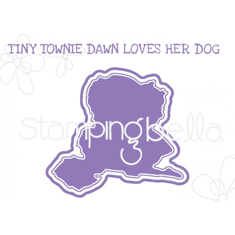 "*NEW* - Stamping Bella - Tiny Townie Dawn loves her Doggie ""CUT IT OUT"" DIE"