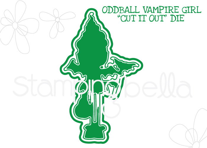 *NEW* - Stamping Bella - ODDBALL VAMPIRE GIRL CUT IT OUT DIE