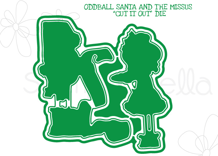 *NEW* - Stamping Bella - ODDBALL SANTA AND THE MISSUS CUT IT OUT DIE