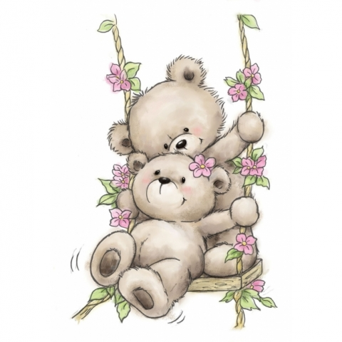 *NEW* - Wild Rose - Bears on Swing