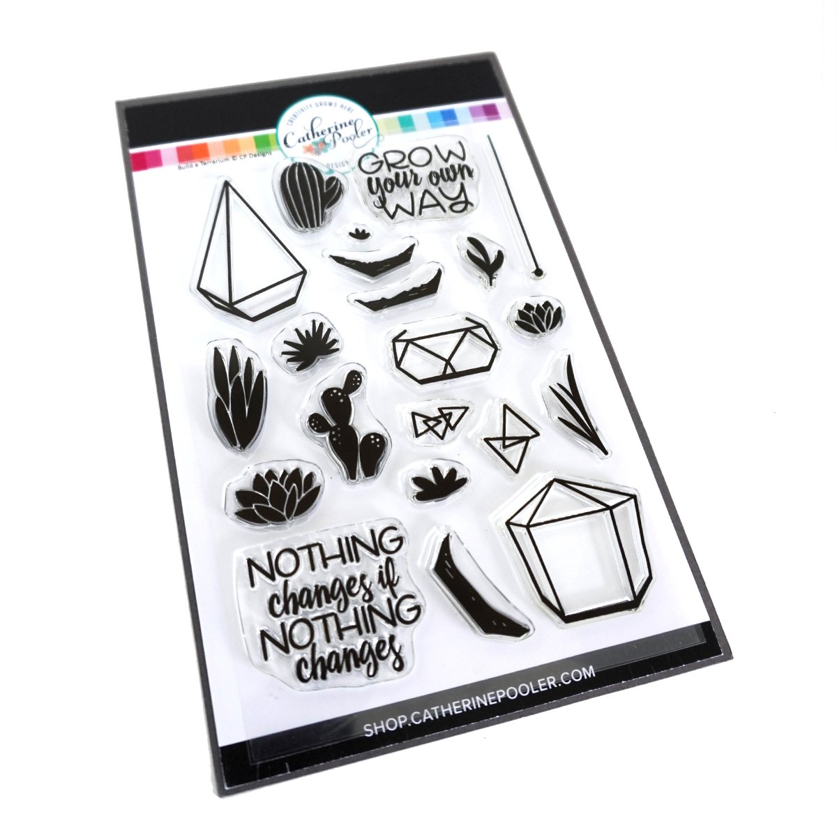 *NEW* - Catherine Pooler - Build-a-Terrarium Stamp Set