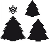 *XMAS* Marianne Design Craftables - Christmas Trees