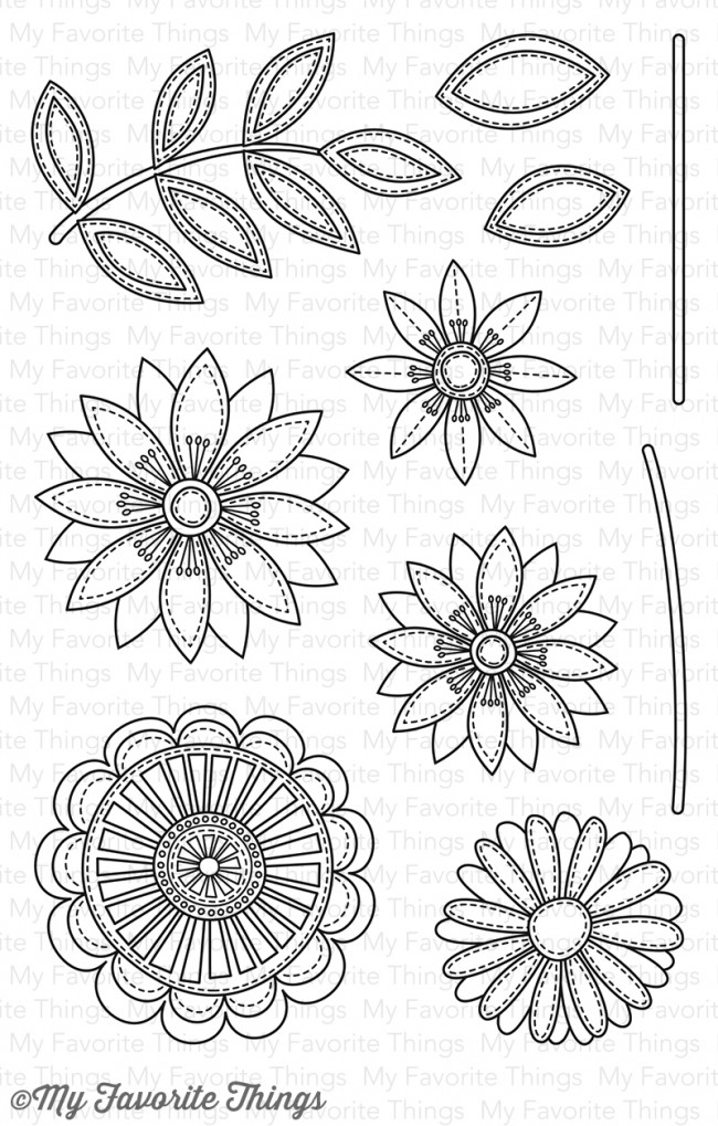 My Favorite Things - Funky Flowers Stamp Set