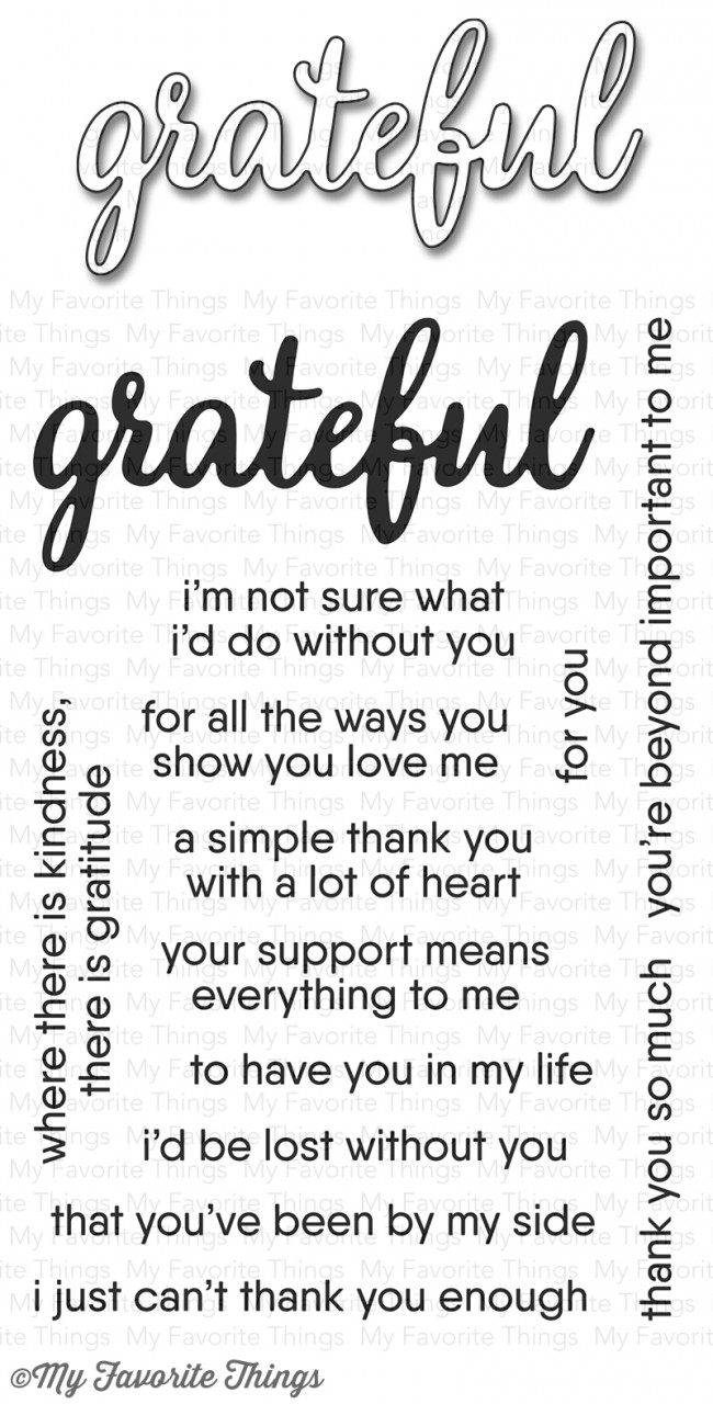 My Favorite Things - Grateful for You Stamp Set