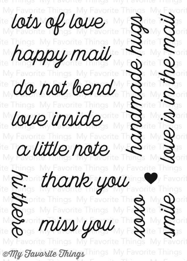 My Favorite Things - Love Is in the Mail Stamp Set
