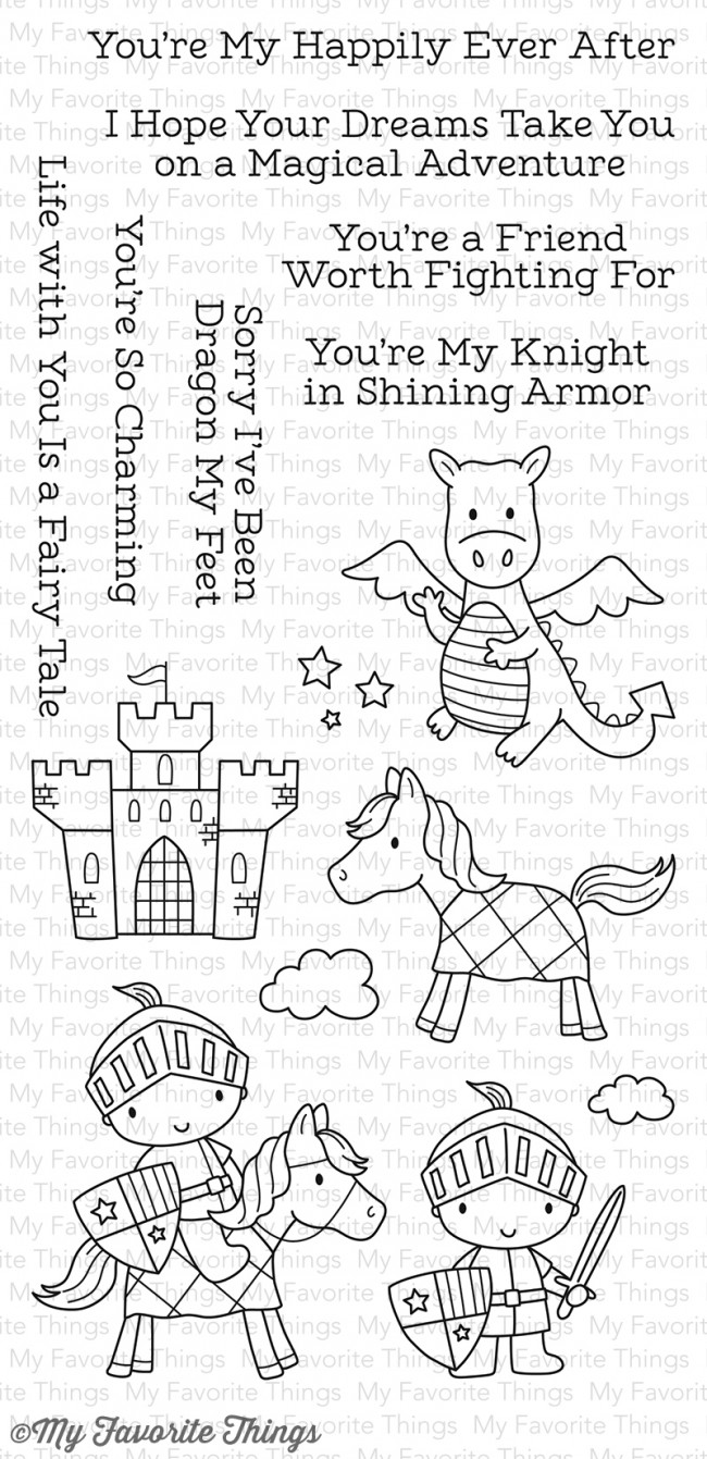 ##My Favorite Things - Knight in Shining Armor Stamp and matching die