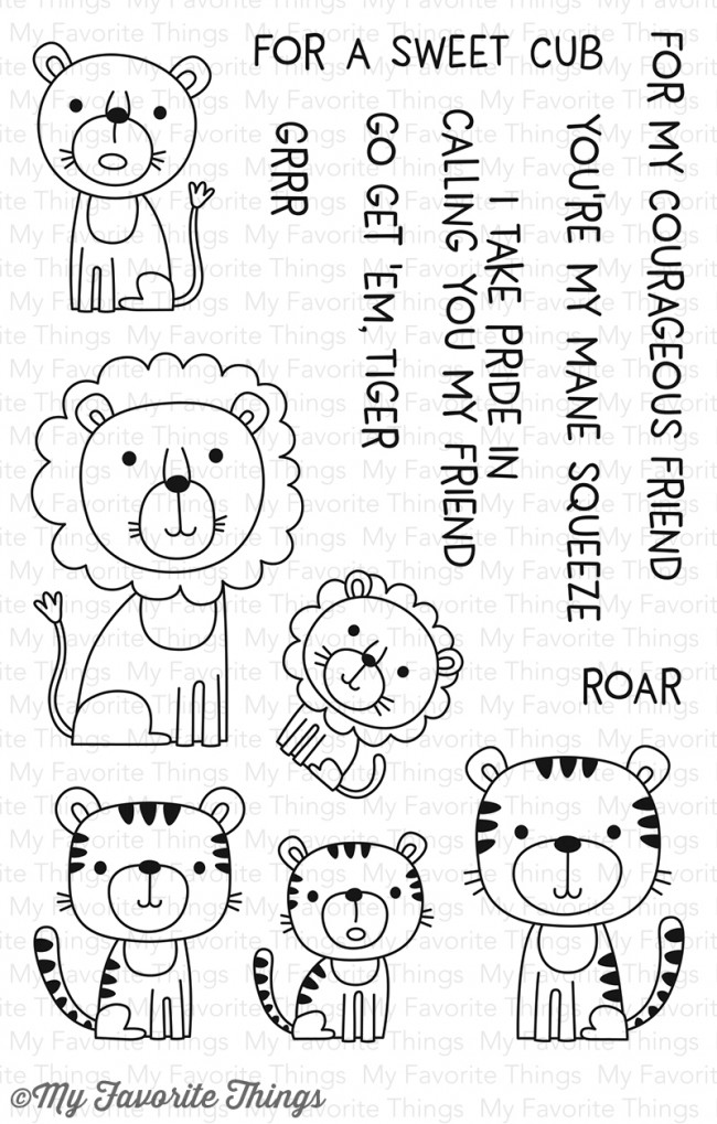 My Favorite Things - Lions and Tigers Stamp Set