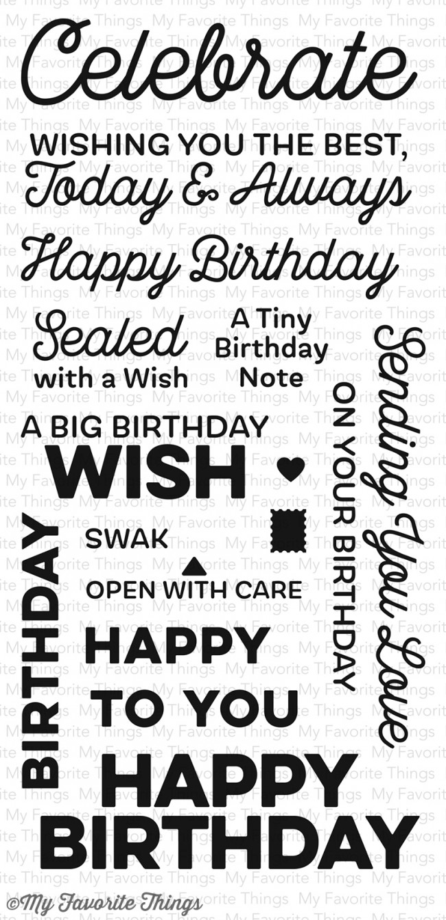 My Favorite Things - Big Birthday Wishes