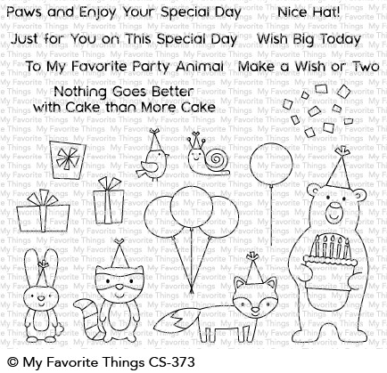 #### My Favorite Things - Birthday Bear & Friends STAMP AND MATCHING DIE