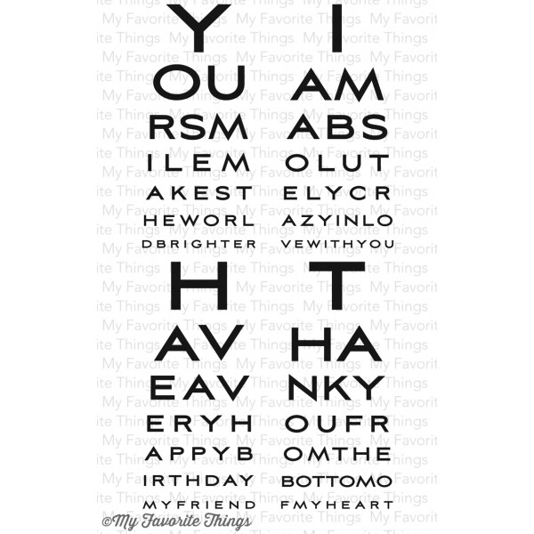 My Favorite Things - Eye Charts Stamp Set