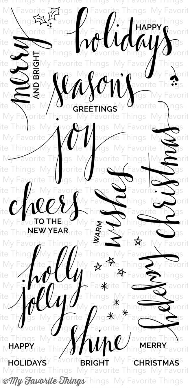 My Favorite Things - Hand Lettered Holiday Stamp Set