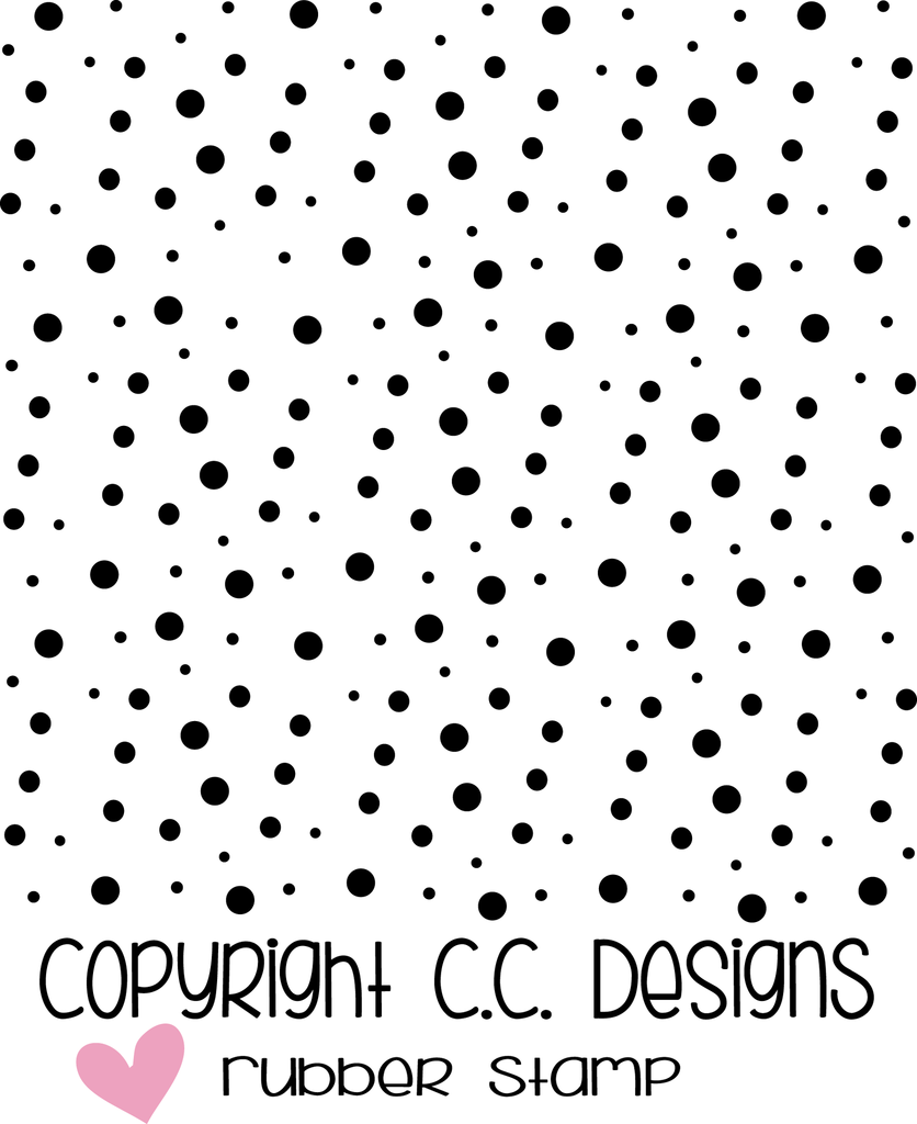 *NEW* - CC Designs - Spotty Dots Background Rubber Stamp